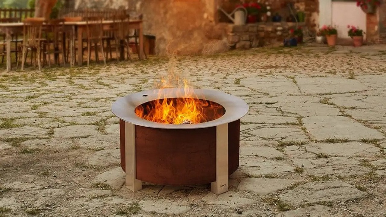 How do you clean a smokeless fire pit?