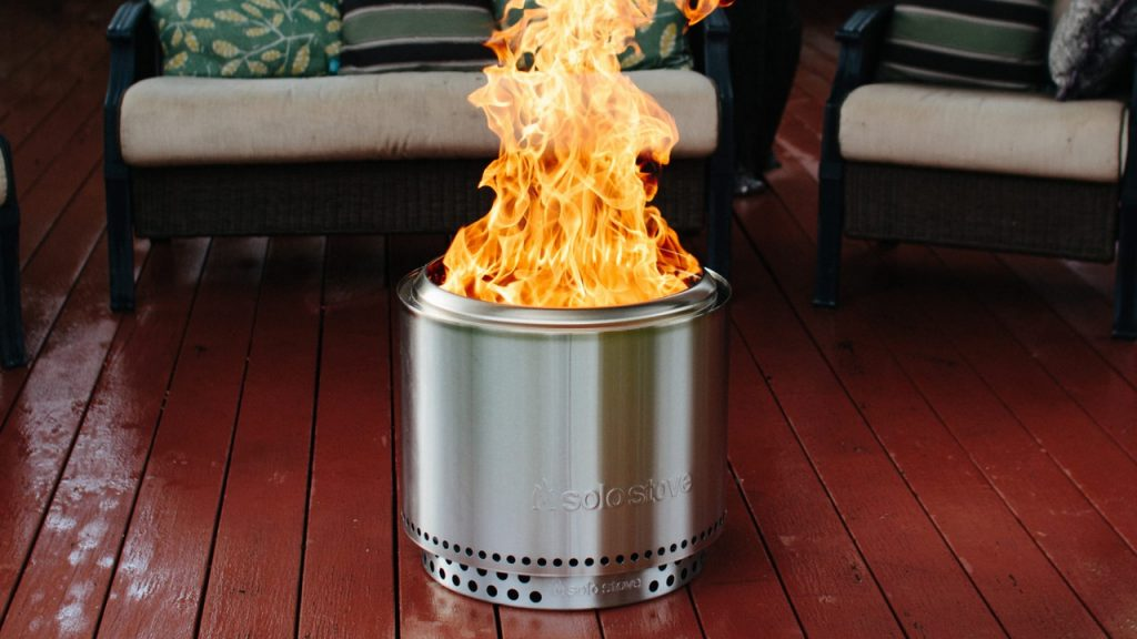 What is a smokeless fire pit?